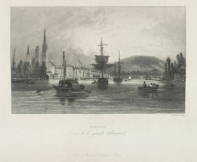 Rouen Print by British Library