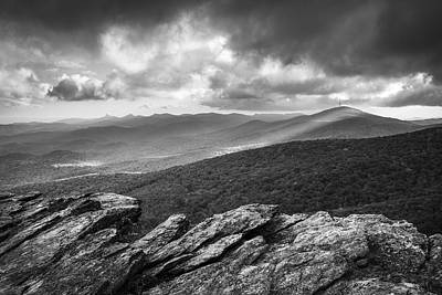 Rough Ridge Grandfather Mountain Blue Ridge Parkway - Remains Of The Day Print by Dave Allen