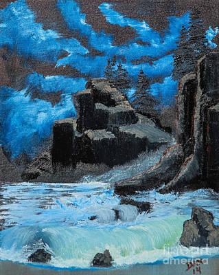Rough Seas Print by Dave Atkins