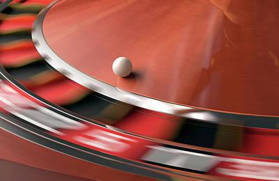 Roulette Wheel Print by Ktsdesign