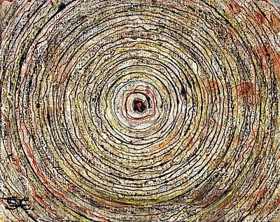 Indian Ink Mixed Media - Round And Around by Carla Sa Fernandes