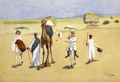 Donkey Drawing - Round The Pyramids, From The Light Side by Lance Thackeray