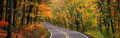 Curving Road Photograph - Route 41 Keweenaw Peninsula Nr Copper by Panoramic Images