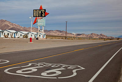 Signage Photograph - Route 66 At Amboy by Matthew Bamberg