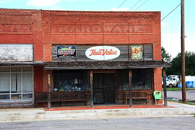 Route 66 - Hardware Store Erick Oklahoma Print by Frank Romeo