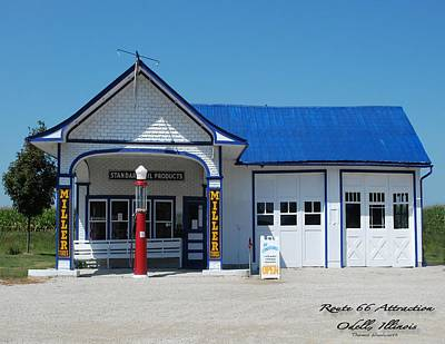 Route 66 Odell Il Gas Station 01 Print by Thomas Woolworth