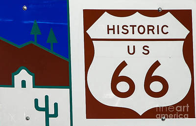 Will Rogers Photograph - Route 66 by Robert Bales