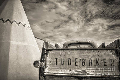 Trucks Photograph - Route 66 Studebaker by Cheyenne L  Rouse