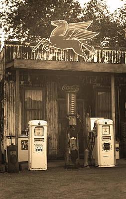 Route 66 Vintage Pumps Original by Frank Romeo