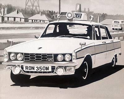 Rover P6 3500 V8 Cop Car Original by Sid Fox