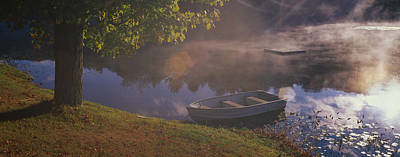 New England States Photograph - Rowboat Lake Nh by Panoramic Images