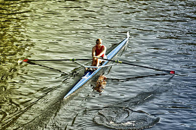 Rowing Crew Print by Bill Cannon