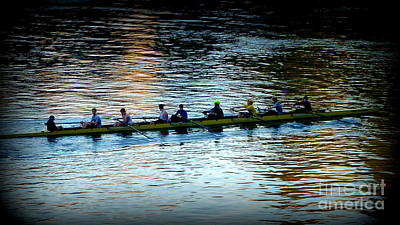 Rowing On The River Print by Susan Garren