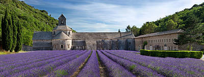 Rows Of Lavender Lead To Abbaye De Print by Brian Jannsen