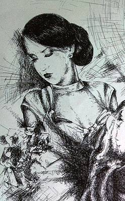 Drawing - Roxana by Robert Art