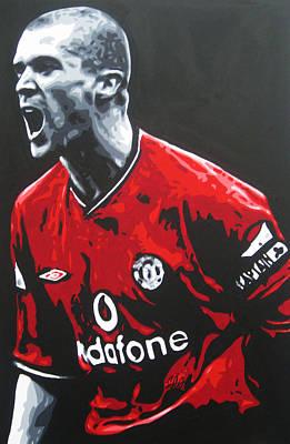 Roy Keane - Manchester United Fc Print by Geo Thomson