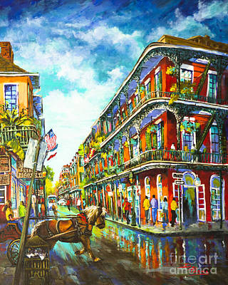 Architectural Artist Painting - Royal Carriage - New Orleans French Quarter by Dianne Parks
