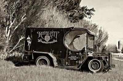 Royal City Paddy Wagon Sepia Print by Steve Harrington