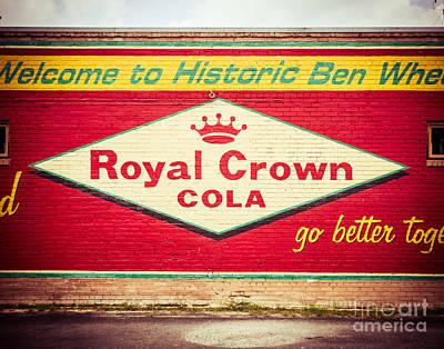 Squint Photograph - Royal Crown Cola by Sonja Quintero