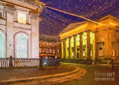 City Digital Art - Royal Exchange Square Glasgow by Liz Leyden