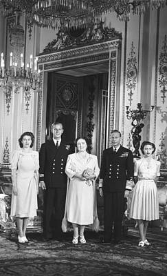Lt Photograph - Royal Family Wedding by Underwood Archives