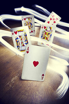 Playing Cards Photograph - Royal Flush by Samuel Whitton