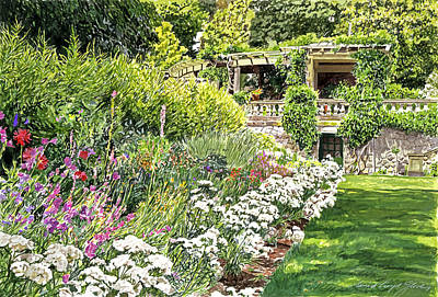 Italian Landscapes Painting - Royal Garden by David Lloyd Glover
