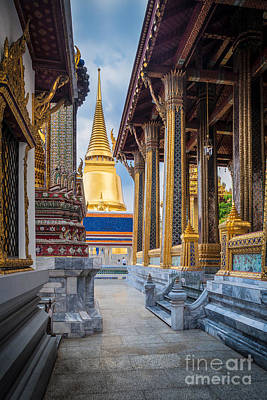 Buddhist Photograph - Royal Grand Palace Columns by Inge Johnsson