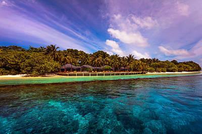 Color Transparency Photograph - Royal Island Resort. Maldives by Jenny Rainbow
