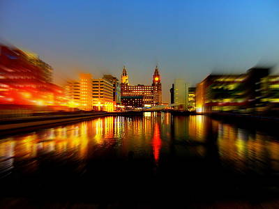 Scouse Photograph - Royal Liver Building Liverpool Uk by Steve Kearns