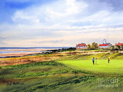 Tiger Woods Painting - Royal Liverpool Golf Course Hoylake by Bill Holkham