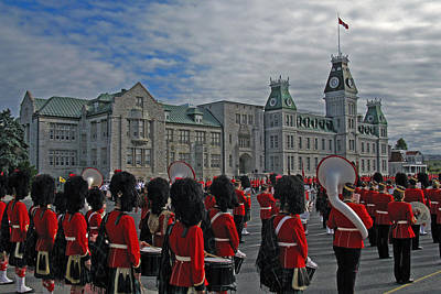 Royal Military College Of Canada On Parade Print by Doug Matthews