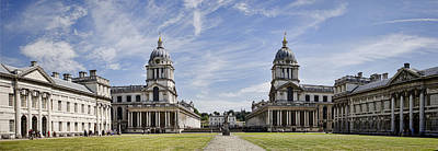 Royal Naval Chapel Photograph - Royal Naval College Courtyard by Heather Applegate