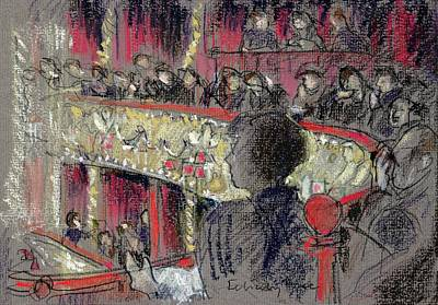 Night Out Photograph - Royal Opera House Pastel On Paper by Felicity House