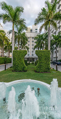 Royal Palm Hotel On South Beach Miami Print by Ian Monk