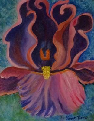 Royal Purple Iris Original by Janis  Tafoya