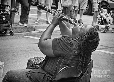 South Louisiana Photograph - Royal Street Clarinet Player New Orleans by Kathleen K Parker