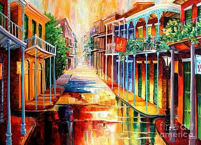 Vieux Painting - Royal Street Reflections by Diane Millsap