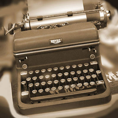 Typewriter Photograph - Royal Typewriter by Mike McGlothlen