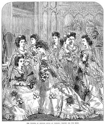 Wedding Dress Drawing - Royal Wedding, 1870 by Granger