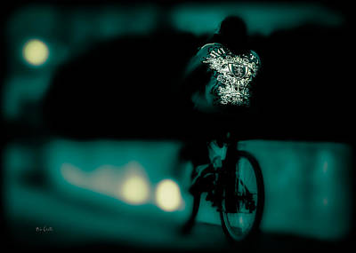 Expressionism Photograph - Royalty On A Bicycle  by Bob Orsillo