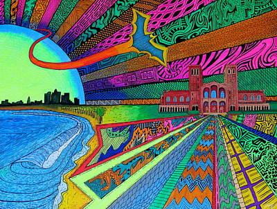 Los Angeles Skyline Painting - Royce by Sam Bernal