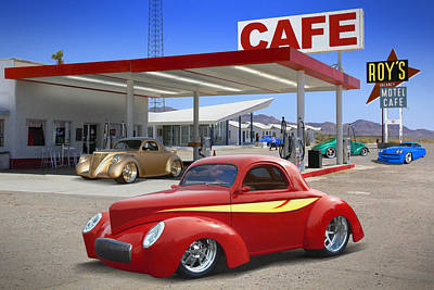Signed Digital Art - Roy's Gas Station 2 by Mike McGlothlen