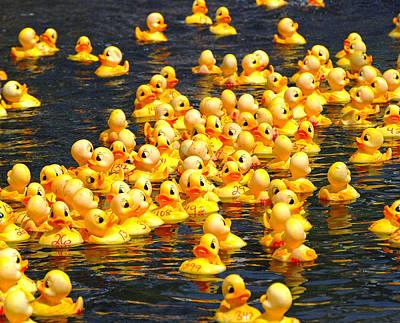 Rubber Duck Race Print by Allen Beatty