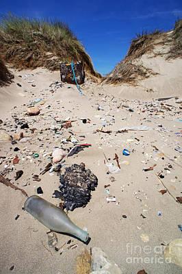 Rubbish On A Sand Dune Print by Sami Sarkis