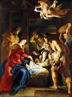 Nativity Photograph - Rubens Adoration by Granger