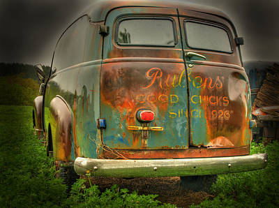 Classic Truck Photograph - Rubens Good Chicks 1 by Thomas Young