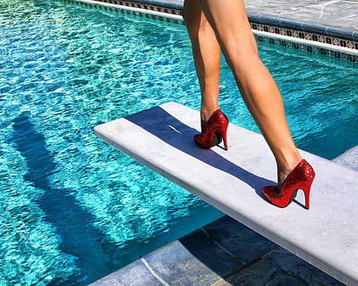 Outlook Photograph - Ruby Heels Ready For Take-off Palm Springs by William Dey