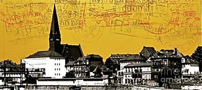 Taunus Photograph - Rudesheim Post Card - 65385 by Joe Finney