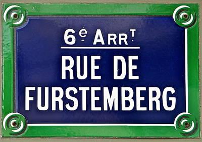 Rue De Furstemberg Print by Ira Shander